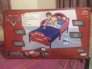 Toddler Bed w/ Uratex Purifoam Mattress & 2 free Beddings. Disney Cars