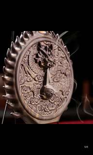 Dragon  陶瓷创意倒流香炉摆件 龙腾盛世熏香塔香檀香炉 沉香香薰炉佛具