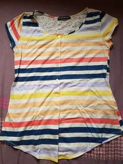 Paddock's Multi-Colored Slim Fit Blouse