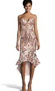 Bariano Rose Gold Sequin Dress