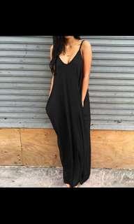Instock Plus Size 5XL Stretchable Long Black Dress
