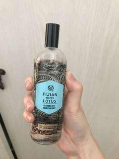 the body shop parfum fijian water lotus fragrance mist preloved
