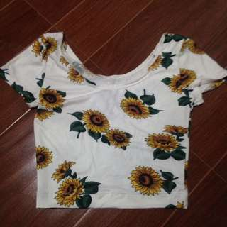 Sunflower croptop