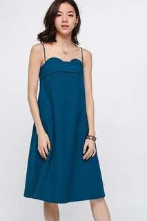 BNWT Love Bonito Orena Tie Back Midi Dress (Sz S, Teal)