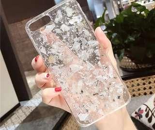 銀泊紋手機殼iPhone Case 6/6s 7/7plus 8/8plus X