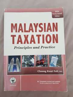 Malaysian Taxation principle and practice