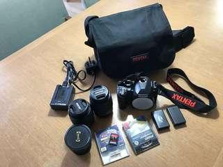 PENTAX K-r DSLR, plus lenses