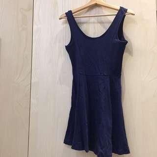 🚚 深藍散裙洋裝