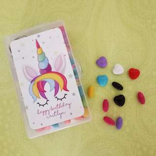DIY Craft Beads Set - Personalized Party Favour with Name