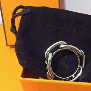 Hermes 絲巾圈 絲巾扣 Scarf Ring. Silver 全新 銀色