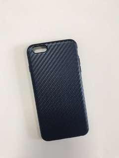 iPhone 6plus 5.5 碳纖維紋TPU保護殼-藍