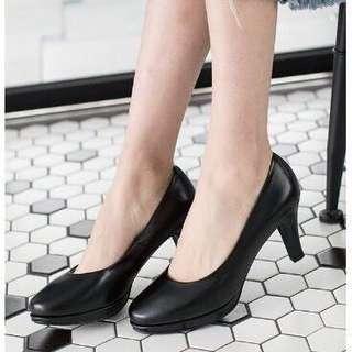 🚚 轉賣 小尺碼 31碼 台灣手工鞋 防水台素面高跟鞋