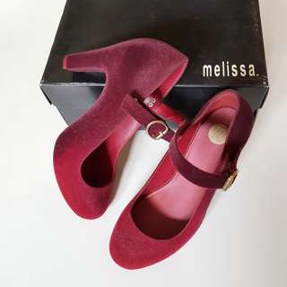 MELISSA SHOES TEMPTATION DEGRADE HEELS - RED, SIZE 9