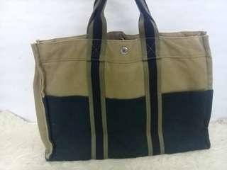 HERMES Tote canvas bag