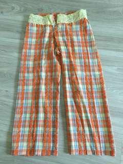 Checkered 3/4 Pants