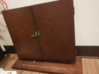 生活工場 桌上3折化妝座鏡 實木
