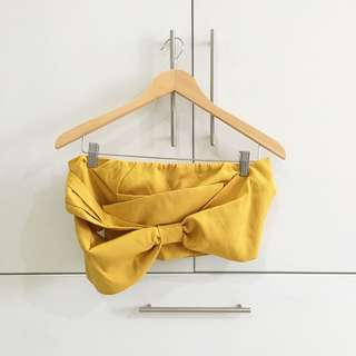 Forever21 ribbon crop top