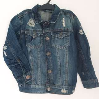 Tattered Denim Jacket for Kids (Unisex)