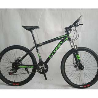 "26"" CROLAN MTB / Mountain Bikes ✩ 21 Speeds, front suspension, Disc brakes ✩ Brand New Bicycles *CL500Grn-2621St"