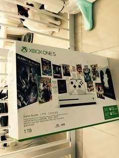 全新Xbox One S 1TB 連3個月金會員及3個月 Xbox Game Pass
