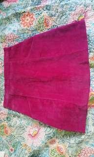 Fuchsia pink corduroy skirt