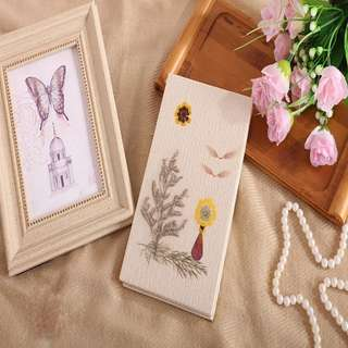 🚚 Handmade Travel Journal Diary Notebook, Unique Artistic Hardcover With Real Flowers