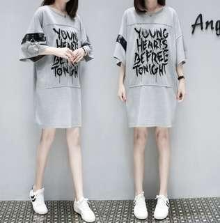 74657 #大碼休閒T恤裙  尺码:XL 2XL 3XL 4XL 5XL  颜色:圖片色