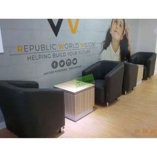 CUSTOMIZE CENTER TABLE 50Wx50Dx50Hcm With Sticker--KHOMI