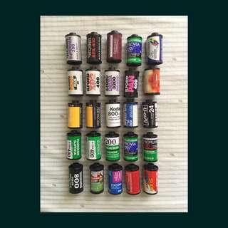 Empty 35mm Film Cartridges