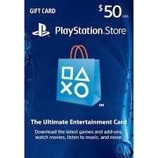 PSN $50USD PlayStation Network Prepaid Card /PS4 PS3 PS Vita 充值卡50美金