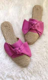 Abaca Mules - Magenta sizes 6 CLEARANCE SALE