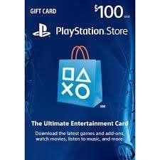 PSN $100USD Playstation Network Prepaid Card PS3 PS4 PS Vita 充值卡100美金