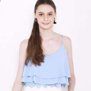 Purpur Spag Top in Light Blue