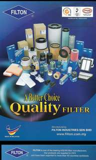 FILTON Air Filters and Oil filters