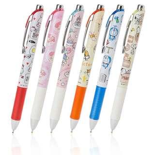 Pentel Japan Sanrio gudetama / melody / hello kitty / litte twin star / snoopy / doremon Energel pen