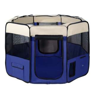 Portable Soft Pet Play Pen  Blue Extra Large Pet Playpen