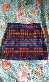 Bright colourful tribal patterned skirt