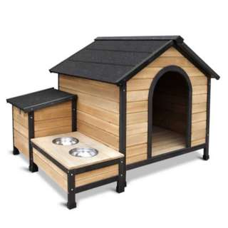 Extra Large Wooden Pet Kennel with Storage Roof Material