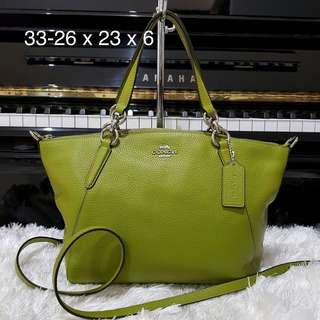 COACH F24599 SMALL KELSEY YELLOW GREEN