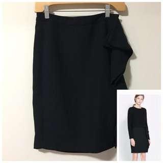 Zara XS Pencil Skirt with side Ruffle