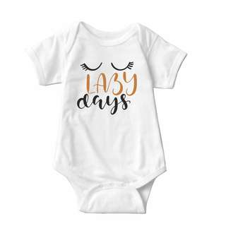Baby Statement Onesies - Lazy Days