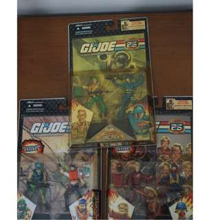 G.I. Joe 25th Anniversary 2-packs set of 3 - 6 figures all - Hasbro