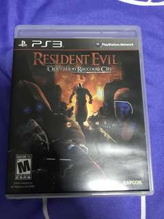 $4.99 PS3 Resident Evil Operation Raccoon City