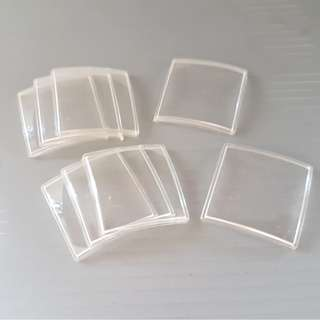 Vintage Watch Spares, Old Watch Parts, Rare Watch Glass, Crystal, Plastic, Swiss Made, Square Shaped, Convex Style, Size 25 by 25 mm, Original, New Condition, Watch Parts and Spares, AF Switzerland