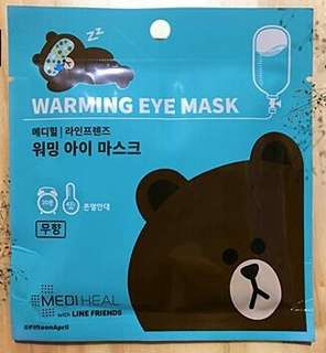 MEDIHEAL WARMING EYE MASK WITH LINE FRIENDS BROWN (UNSCENTED)