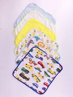 BABY MALE 6in1 FACE TOWEL ASSORTED