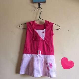 Hoodie pink dress