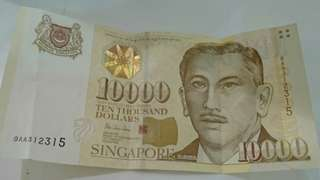 SGD 10,000 note