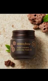 INNISFREE super volcanic pore clay mask 2x