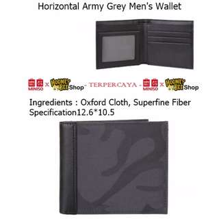 Japan Quality - Dompet Pria Miniso Import Men Horizontal Army Wallet
